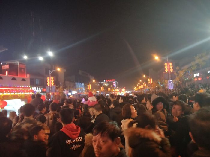 Festival Of Lanterns Small Town Music Crowd Large Group Of People Night Arts Culture And Entertainment Performance Nightlife