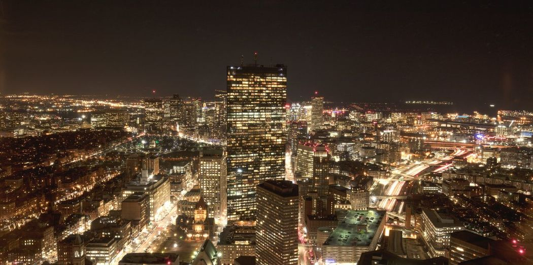 Boston by night Boston Boston, Massachusetts Night Illuminated Cityscape Skyscraper City Modern Urban Skyline Downtown District City Life Architecture Travel Destinations High Angle View Outdoors No People Futuristic Building Exterior Sky