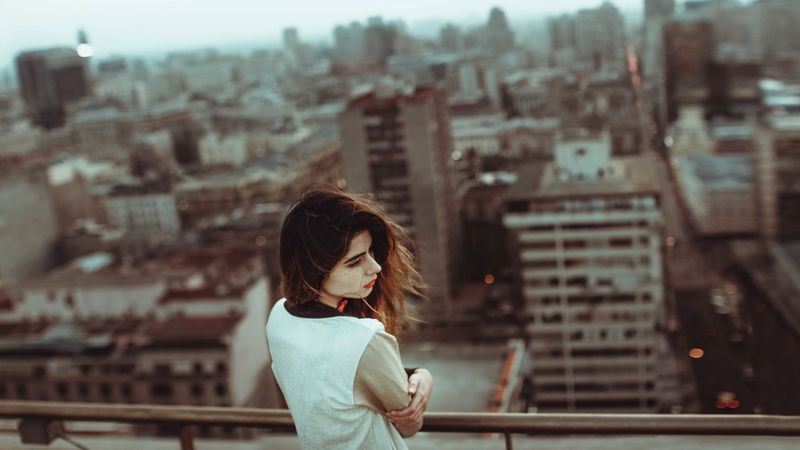 I just love to look the buildings from a high one. md: Javiera <3 Melancholic View Architecture Building Exterior Built Structure City Cityscape Day Lifestyles One Person Outdoors People Real People Sad & Lonely Urban Young Adult Young Women