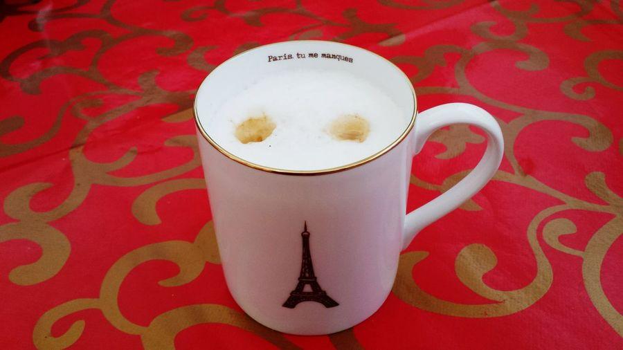 Paris tu me manques❤ Cappuccino ☕️ Enjoying Life Cup Of Coffee Paris ❤ La Vie Est Belle ! Relaxingtime Paris Je T'aime Coffee Time