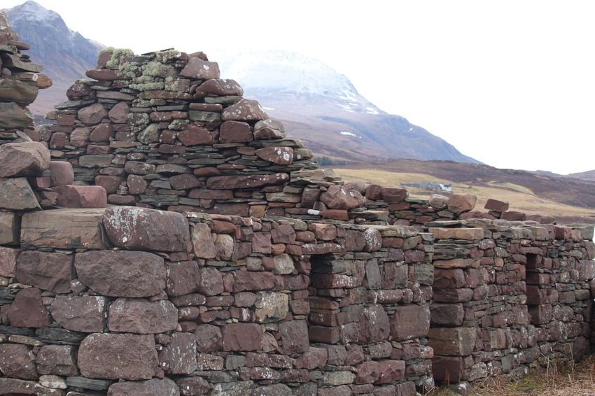 Abandoned Croft..... Scottish Highlands Alchiltibuie Scotland Hiking Architecture Mountain Built Structure Sky Building Exterior Wall Solid Travel Destinations Landscape Mountain Range Outdoors