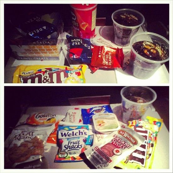 I go all out on snacks on flights. :) Numnum Fly Sowhat Delta travel nyc