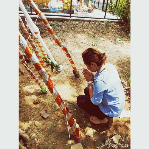 ขอพรปีใหม่ My Homeland ไม้ค้ำยันเพื่อความเป็นสิริมงคลแก่บ้าน Songkran Festival #thailand