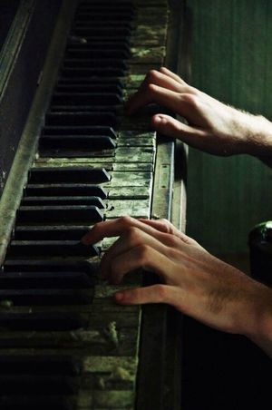Music Is My Life Old Piano Imagination