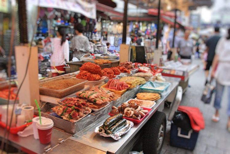 Food And Drink Food Photography Food Stall Food Street Food Street Korea Food And Drink Food Market Business Retail  Market Stall Variation Freshness Choice Focus On Foreground Consumerism Healthy Eating For Sale Vegetable Abundance