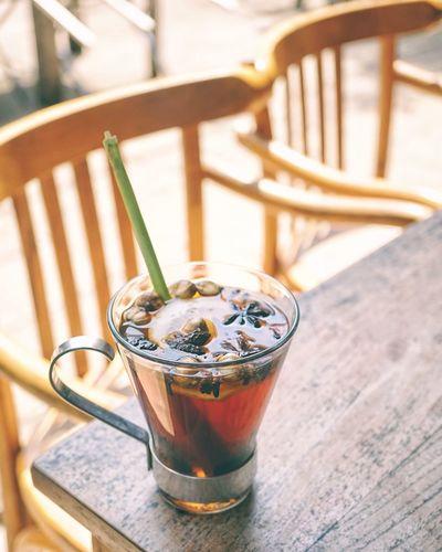 wedangan Healthy Drinks Hot Drink Lemon Grass Spices Drink Wedangan Wedang Traditional Traditional Drink Indonesian Food Javanesse EyeEm Selects Drink Tea - Hot Drink Drinking Glass Wood - Material Table