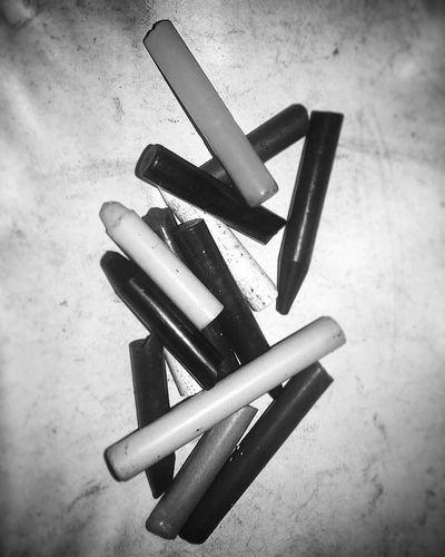 Close-up Crayon Broken Crayons Blackandwhite Black And White Black & White