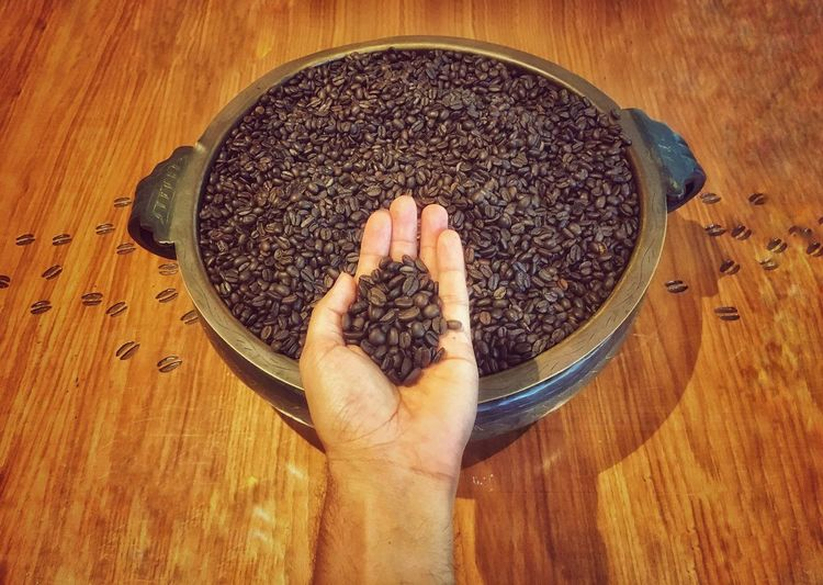 Coffee love Starbucks Coffee Coffee Real People One Person Human Hand Food And Drink Human Body Part High Angle View Hand