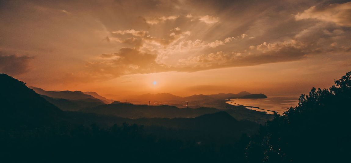 Done That. Sky And Clouds Beauty In Nature Day Landscape Mountain Mountain Range Nature No People Outdoors Scenics Shootermag Silhouette Sky Sky_collection Sunset Tranquil Scene Tranquility Tree