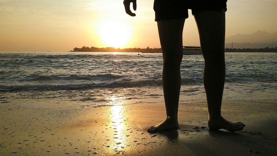 Creative Light And Shadow Silhouette Sunrise Lombok Nature Landscape Travel Hello World Enjoying Life Summer Views