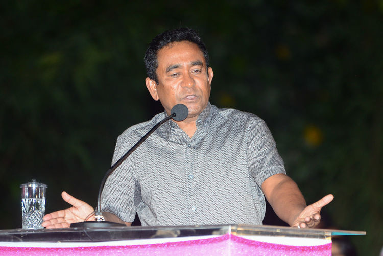 Maldives President Abdulla Yameen Abdul Gayoom speaking at the campohn rally held on west park, male' maldives on 7 February 2018 Maldives Maldives Islands Maldives Political Rally Maldives Politices President Abdulla Yameen Abdul Gayoom President Of Maldives Adults Only Political Rally First Eyeem Photo