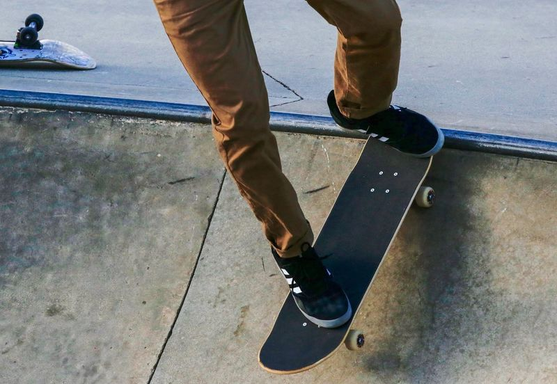Take off. JGLowe Skate Park Skateboard Concrete Low Section Human Leg Real People Shoe Body Part Human Body Part Lifestyles Day Leisure Activity Skateboard Nature Sport Motion Standing Outdoors