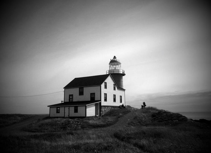 Ferryland Lighthouse - Newfoundland Canada IPhoneography Landscape_Collection AMPt_community Blackandwhite Black And White Summer EyeEm Nature Lover Lighthouse Nature Shades Of Grey My Best Photo 2015 The Great Outdoors - 2016 EyeEm Awards The Great Outdoors With Adobe