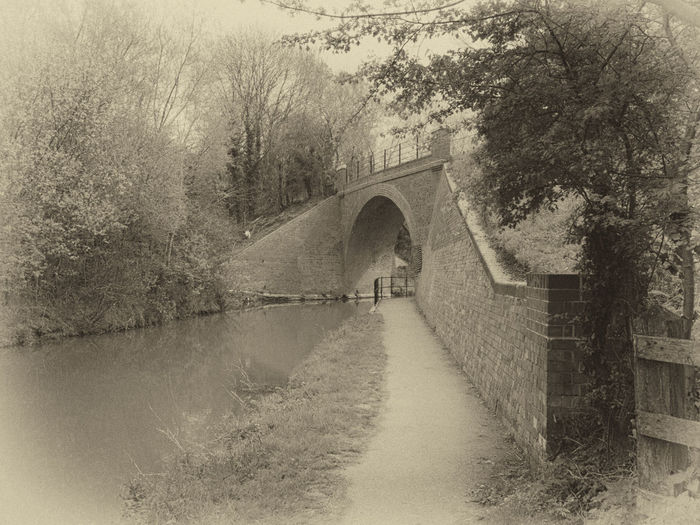 Black And White Bridge Derelict Diminishing Perspective Former Railway Nik Collection No People Outdoors