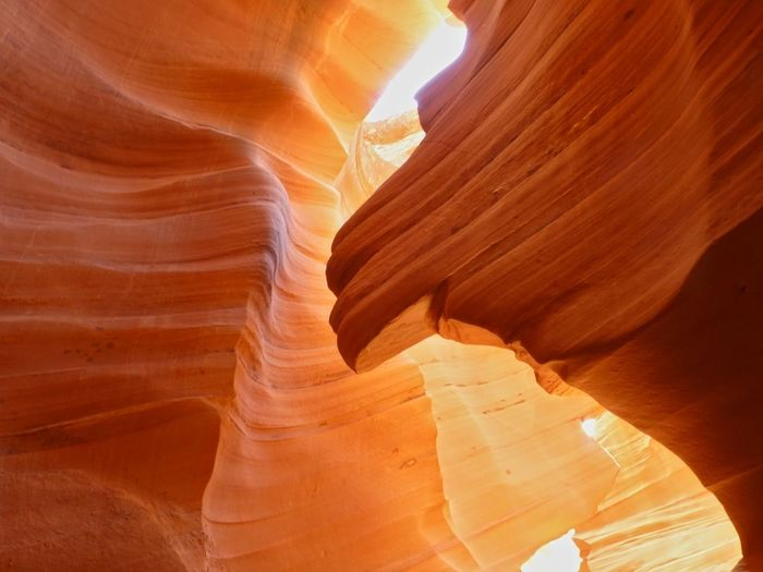 Antelope Canyon Antelope Canyon Beauty In Nature Beautiful Nature Rock Formation Geology Rock Rock - Object Physical Geography Travel Destinations Solid Canyon Non-urban Scene Travel Sandstone Tourism Eroded Scenics - Nature No People Nature Natural Pattern Tranquility Sunlight Outdoors Arid Climate Climate