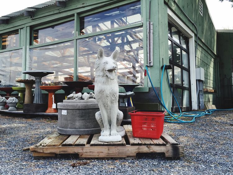 Garden Center Statue Dogs Dog Yard Ornaments Stone Concrete Animal Statue Dog Statue Fake Dogs Spring Lawn Ornaments Garden Store Fake Shopping Basket