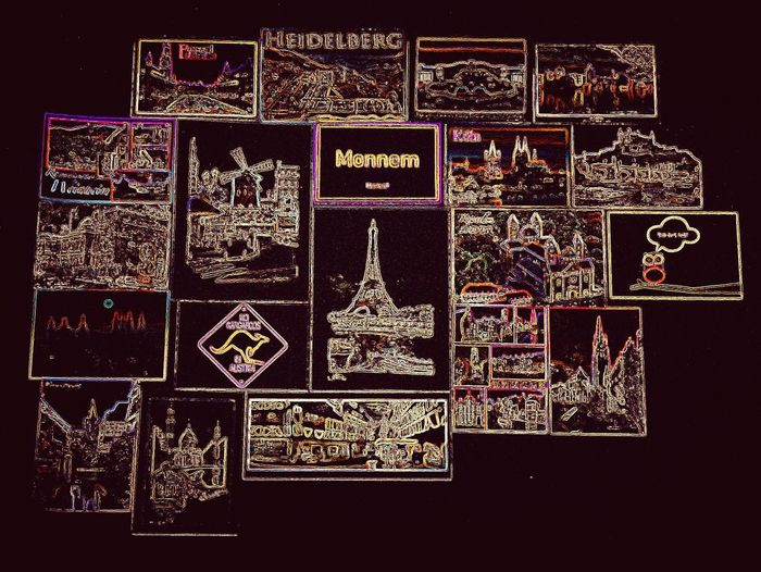 Heidelberg Paris Monnem Austria Eiffel_tower  Moulin Rouge Neon Lights