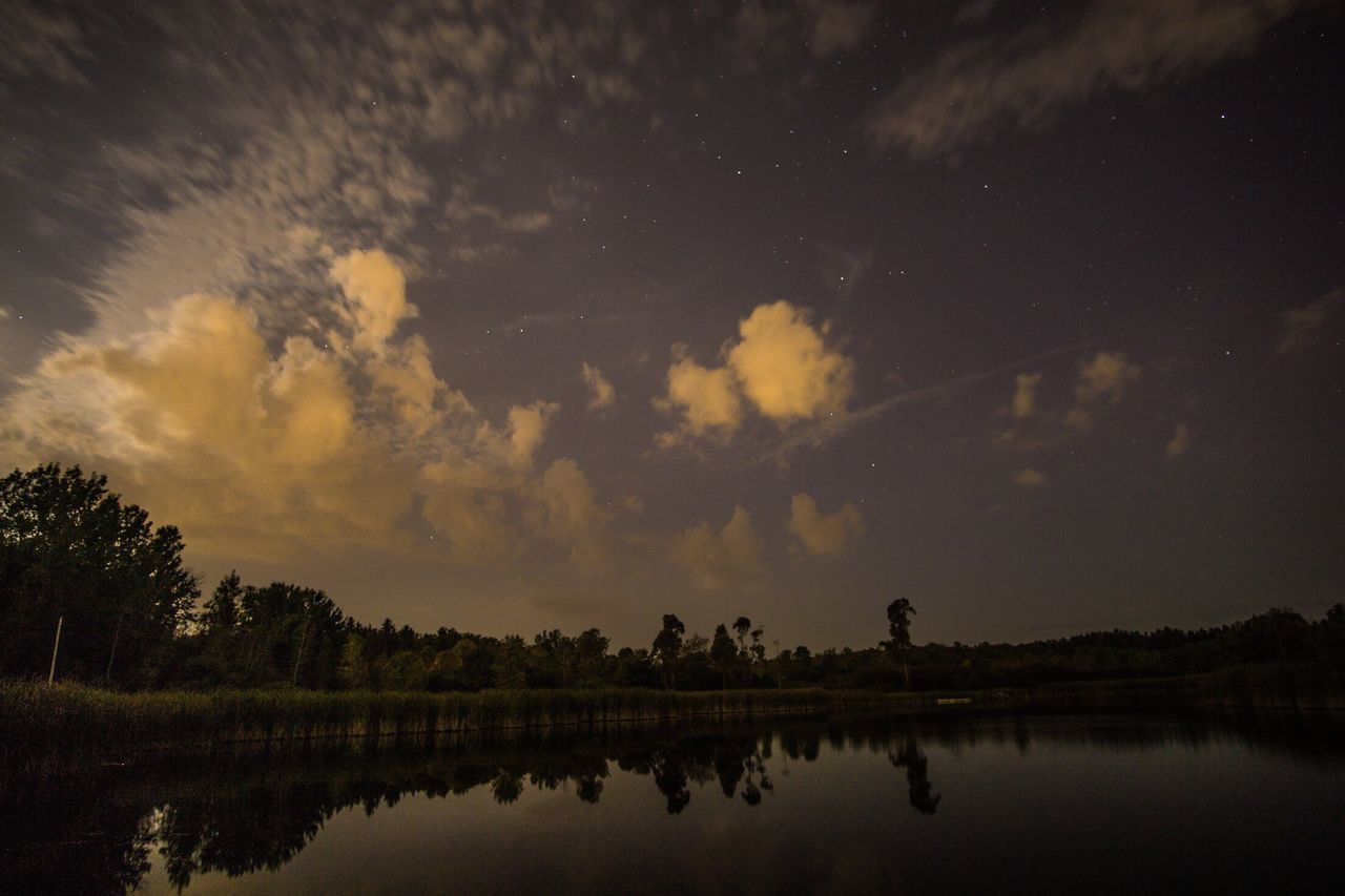 Reflection Sky Nature Silhouette Outdoors Water Beauty In Nature Tranquility Scenics Night 12mm  Sonyalpha Sony A6000 Rokinon Ultra Wide Angle Astronomy Landscape