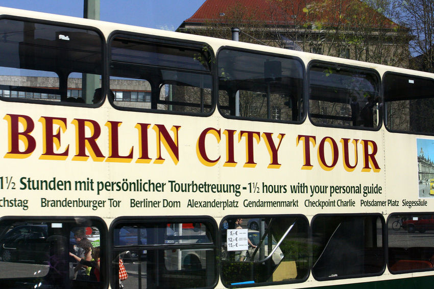 A Taste Of Berlin Berlin City Tour Bus City Day Land Vehicle Lifestyles Men Mode Of Transport Outdoors People Public Transportation Real People Text Tourist Bus Train - Vehicle Transportation Berlin Love #FREIHEITBERLIN