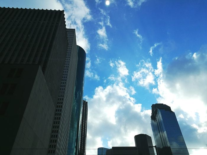 Look high into the sky, and you'll find wonders Sky City Architecture Low Angle View Day Clouds Skyscraper No People First Eyeem Photo
