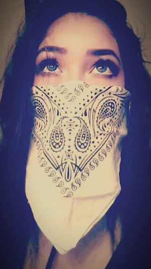 Blue Blue Eyes BlueEyes Bandana ✔ Chola Swag Chola Swag Intense One Woman Only One Young Woman Only Indoors  Front View Close-up Beautiful Woman Young Women Alone EyeEm Selects EyeEmNewHere