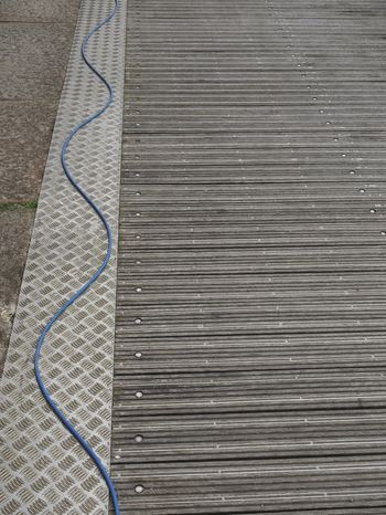 Abstract Deck Blue Line