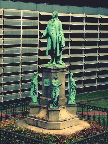 Schiller & the Muses Statue in Hamburg