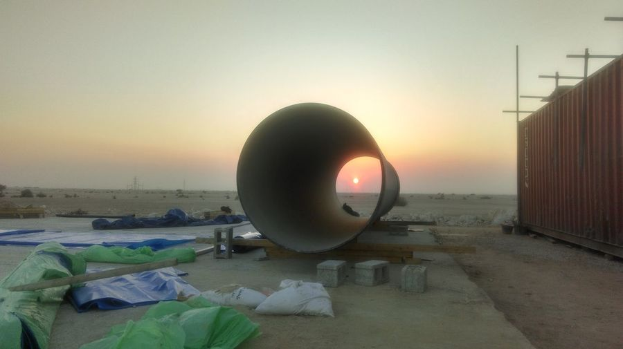 Dawn At Working Site ?