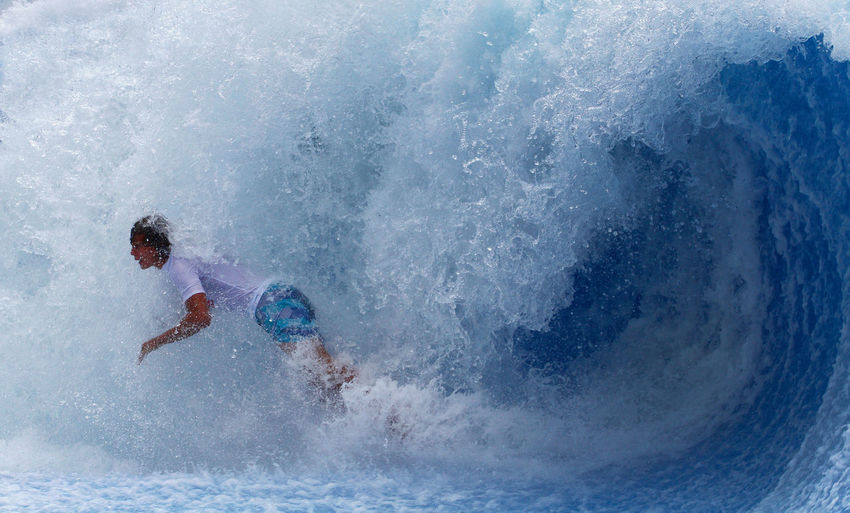 Action Balance Boy Day Enjoyment Falling Flowboard Flowboarding Leisure Activity Lifestyles Outdoors Season  Splashing Sport Spraying Summer Surf Vacations Water Watersports Wave Waves Weather