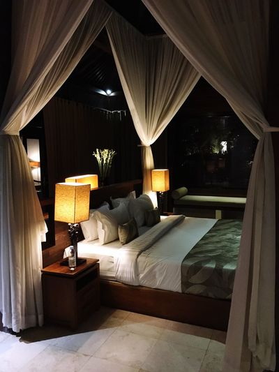 Bali Ubud Villa Luxury Masterbedroom Modern No People Architecture Bed Bedroom INDONESIA