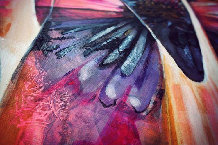 Macro Beauty Fine Art Photography Acrylic Painting Acrylic Neon Pink Pastel Shades Pastel Power