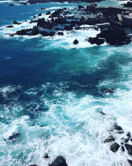 Wave Beauty In Nature Sea Nature Water Surf Blue No People Scenics Day Outdoors Motion Tranquil Scene Tranquility Power In Nature Sky VSCO