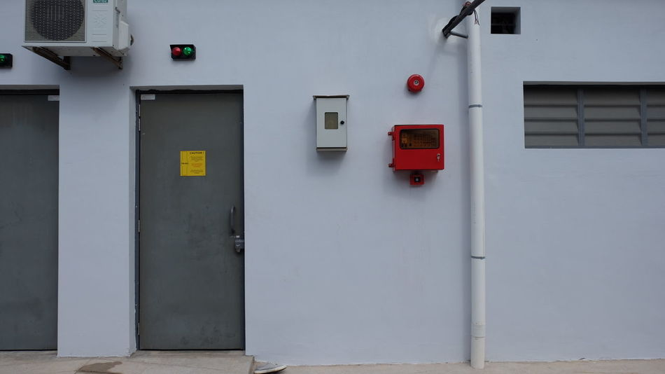 EyeEm Selects No People Red Control Panel Day Outdoors Occupational Safety And Health System Fire Service Firefighters Fire Safety Pipe - Tube Fire Suppression Architecture Firesuppression Red