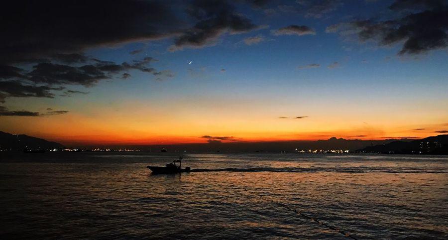 Sunset Sea Sky Nature Hong Kong HongKong