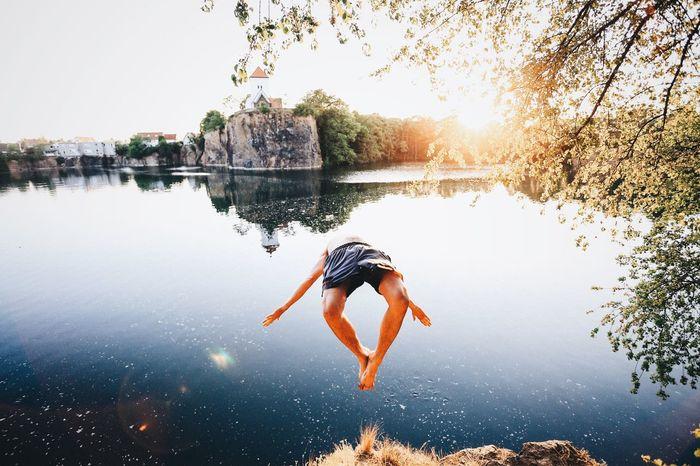 Summer Jump Steinbruch VSCO Landscape EyeEm Best Shots Nature Leipzig The Moment - 2015 EyeEm Awards Capturing Freedom Fresh On Market 2018