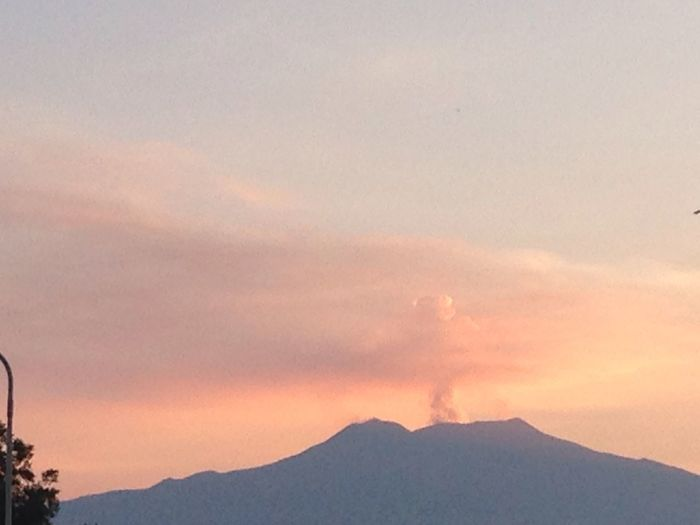 Etna al tramonto da Giardini Naxos Mountain Sky Beauty In Nature Sunset Cloud - Sky Scenics - Nature Orange Color