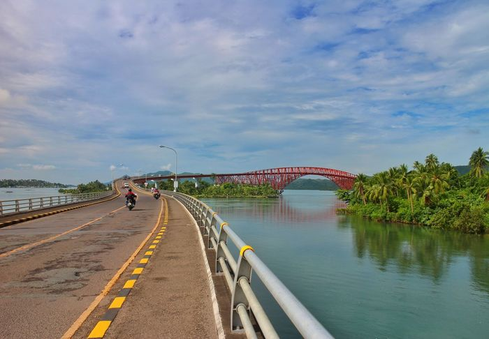 view from San Juanico bridge [1/2] Water Reflection Vacations Bridge - Man Made Structure Travel Destinations Sky Lake Landscape Cloud - Sky Outdoors Day Nature Scenics Multi Colored Architecture Sanjuanicobridge Sanjuanicobridgeview Philippines Leyte Samar