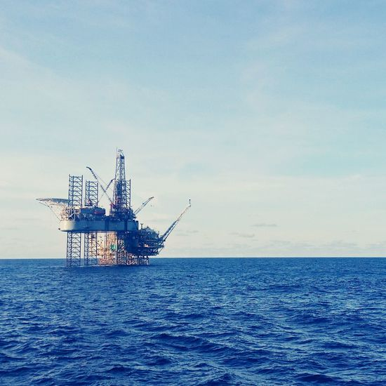 jackup drilling rig at Bintulu High Sea, Sarawak, Malaysia JackUpRig Oilfield First Eyeem Photo
