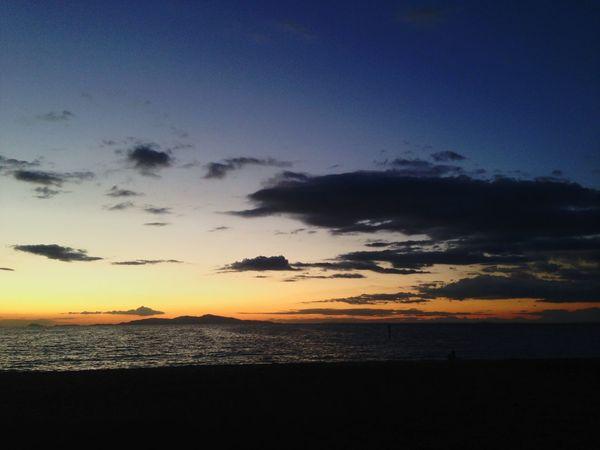 Sunset Sky Sky And Clouds Clouds And Sky Sea Seaside Sea And Sky Beautiful Sunset Holiday Awaji