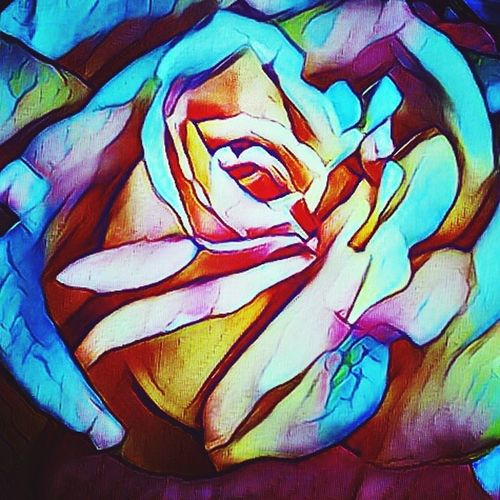 Rose,colors, Art And Craft Multi Colored Textured  Abstract Painted Image Full Frame Close-up Backgrounds Watercolor Painting No People Indoors  Day