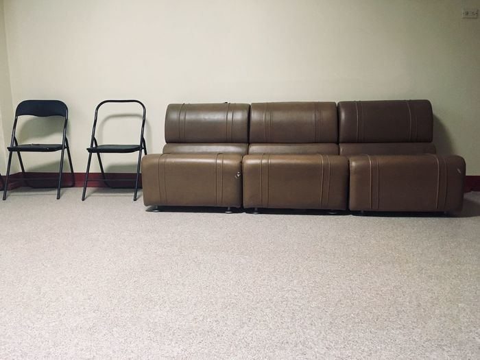 Empty sofa at home