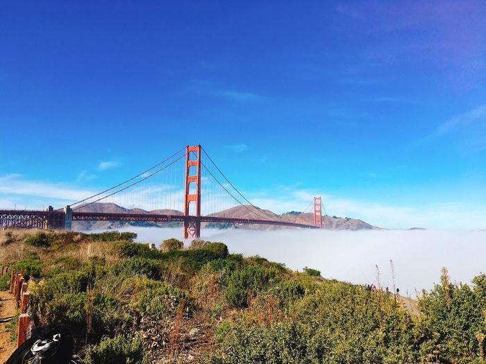 Golden Gate Bridge Sky Architecture Built Structure Bridge Connection Bridge - Man Made Structure Suspension Bridge