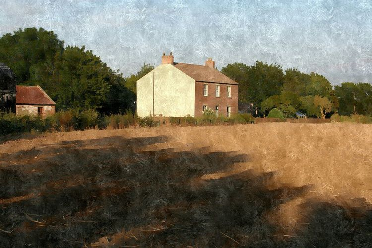 Farm edit Streamzoofamily Farmhouse Enjoying The View History Through The Lens  North Yorkshire Trees Evening Summer Pixlr Silk