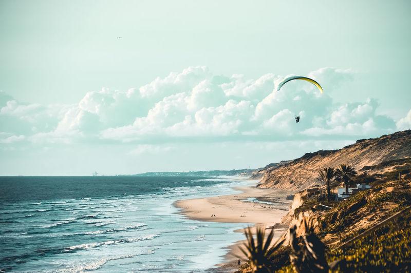 Paragliding the sand dunes of matalascañas