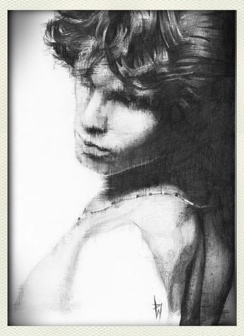 Check This Out Art Drawing Awesome my jim morrison pencil sketch