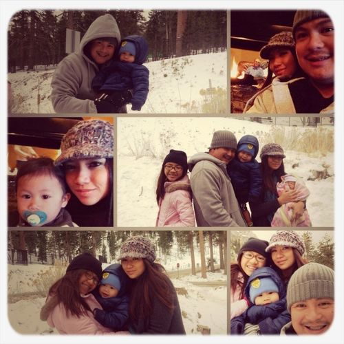 Fun in the snow & cuddling by the fire