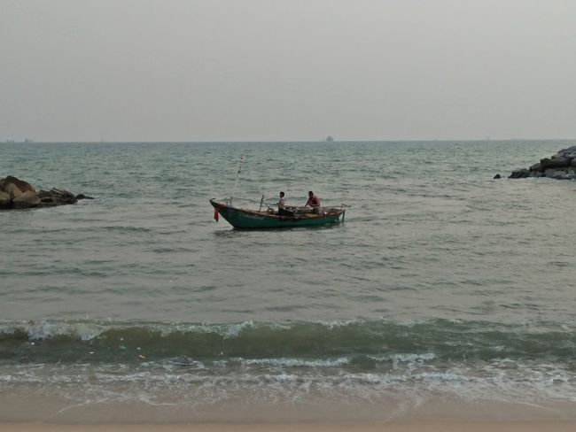 Water Nautical Vessel Sea Men Occupation Fisherman Beach Horizon Over Water Sky