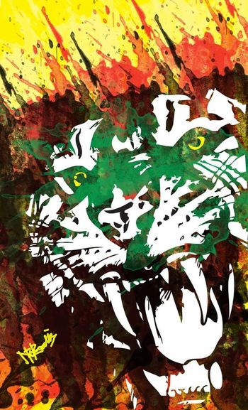 #spirit #Tiger #art #illustration #drawing #myown #drawing Paint Backgrounds Splattered