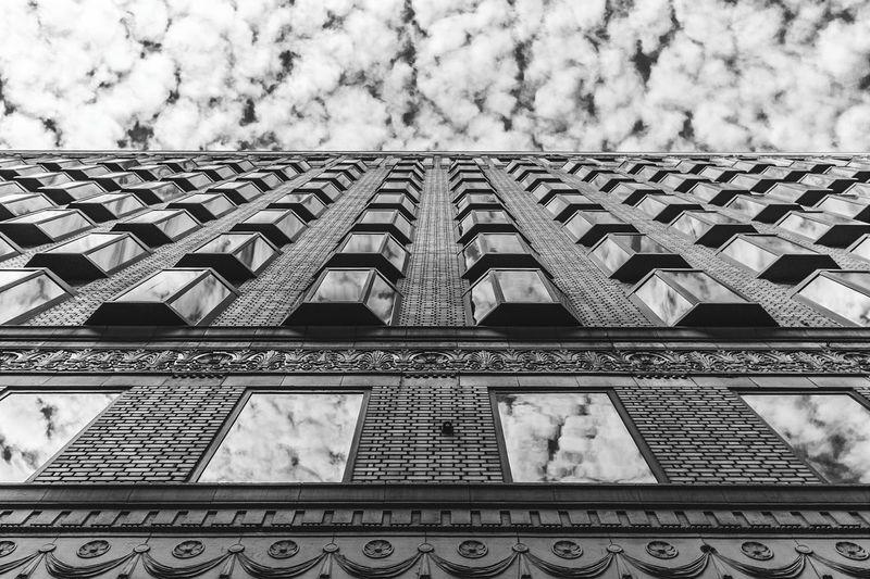Cloudporn Blackandwhite Bnw Popular Photos Skyporn Buymyprints DTLA Losangeles Reflections Black And White