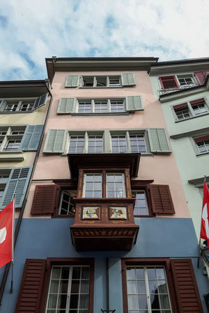 Zürich Architecture Building Exterior Built Structure City Day Low Angle View No People Old Building  Old Building Exterior Outdoors Sky Window Zurich, Switzerland